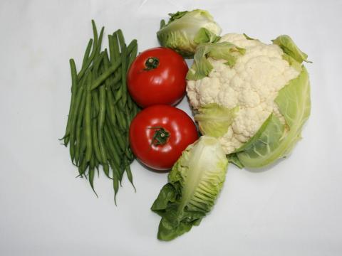 'Fasola', 'pomidory' and 'kalafior'