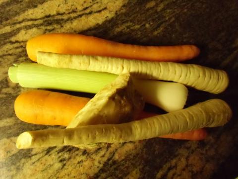 Stockpot vegetables, or 'włoszczyzna'