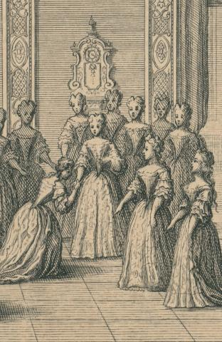 Scotin, During the reception of the bride at Dresden Palace on 2 September 1719 - KK-Ca-202-BI-66-BW01