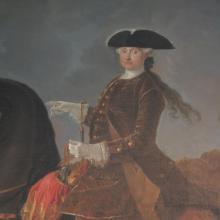 Maria Amalia on horseback