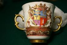 Teacup emblazoned with the arms of Don Luigi e Branciforte