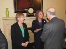 Helen Watanabe-O'Kelly with Queen Sofia of Spain