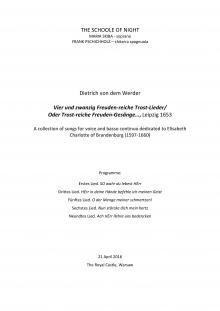Warsaw Concert Programme